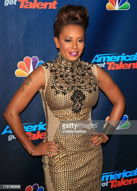 Mel B attends 'America's Got Talent' Season 8 Red Carpet Event at Radio City Music Hall on August 7 2013 in New York City