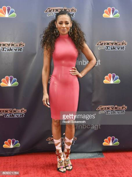 Mel B attends NBC's 'America's Got Talent' Judge Cut Rounds at NBC Universal Lot on April 27 2017 in Universal City California