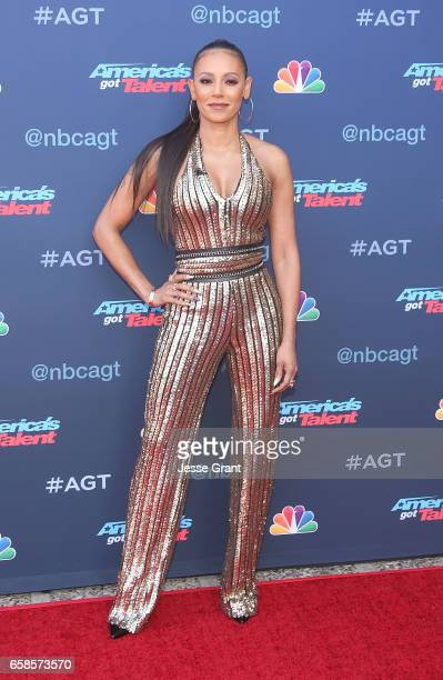 Mel B attends NBC's 'America's Got Talent' Season 12 Kickoff at the Pasadena Civic Auditorium on March 27 2017 in Pasadena California