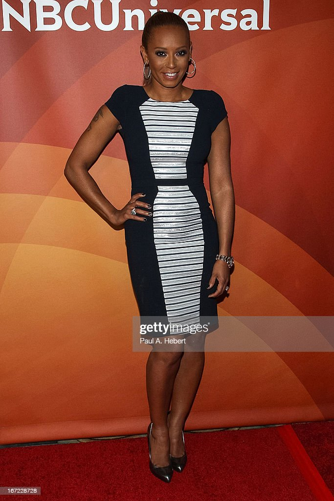 Mel B attends the 2013 NBCUniversal Summer Press Day held at The Langham Huntington Hotel and Spa on April 22, 2013 in Pasadena, California.