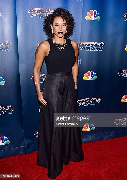 Mel B attends the 'America's Got Talent' postshow red carpet at Radio City Music Hall on August 19 2015 in New York City