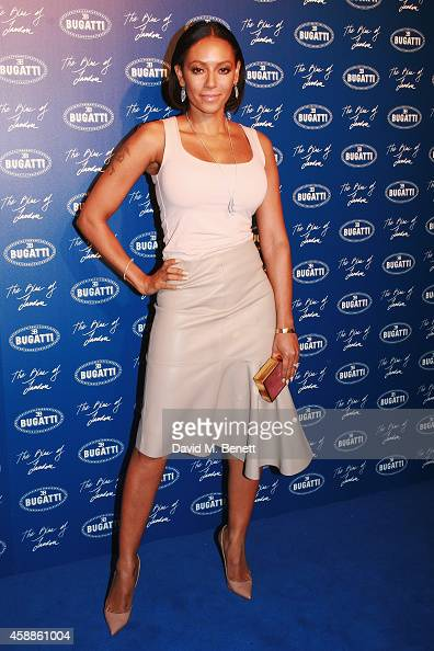 Mel B attends the Blue of London celebrating the world's first Bugatti Lifestyle Boutique opening at Brompton Road on November 12 2014 in London...