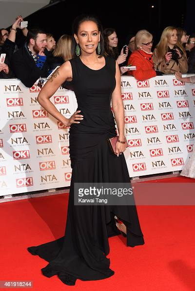 Mel B attends the National Television Awards at 02 Arena on January 21 2015 in London England