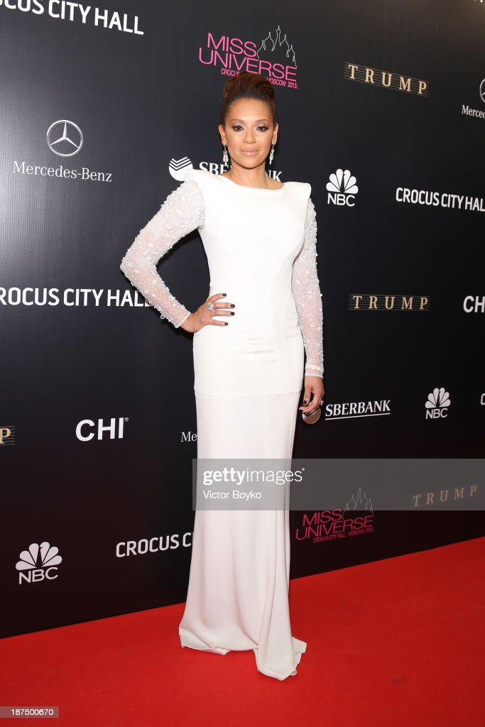 Mel B. attends the red carpet at Miss Universe Pageant Competition 2013 on November 9, 2013 in Moscow, Russia.