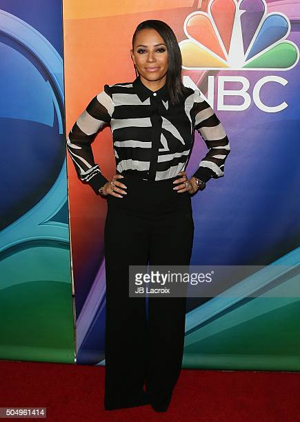 Mel B attends the Winter TCA Tour NBCUniversal Press Tour at the Langham Huntington Hotel on January 13 2016 in Pasadena California