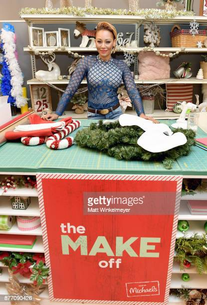 Mel B behind the scenes of Making with Michaels on August 24 2017 in Los Angeles California