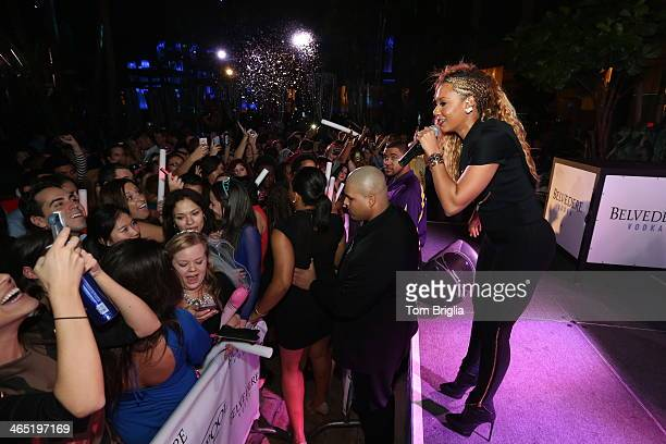 Mel B hosts The Pool After Dark at Harrah's Resort on Saturday January 25 2014 in Atlantic City New Jersey
