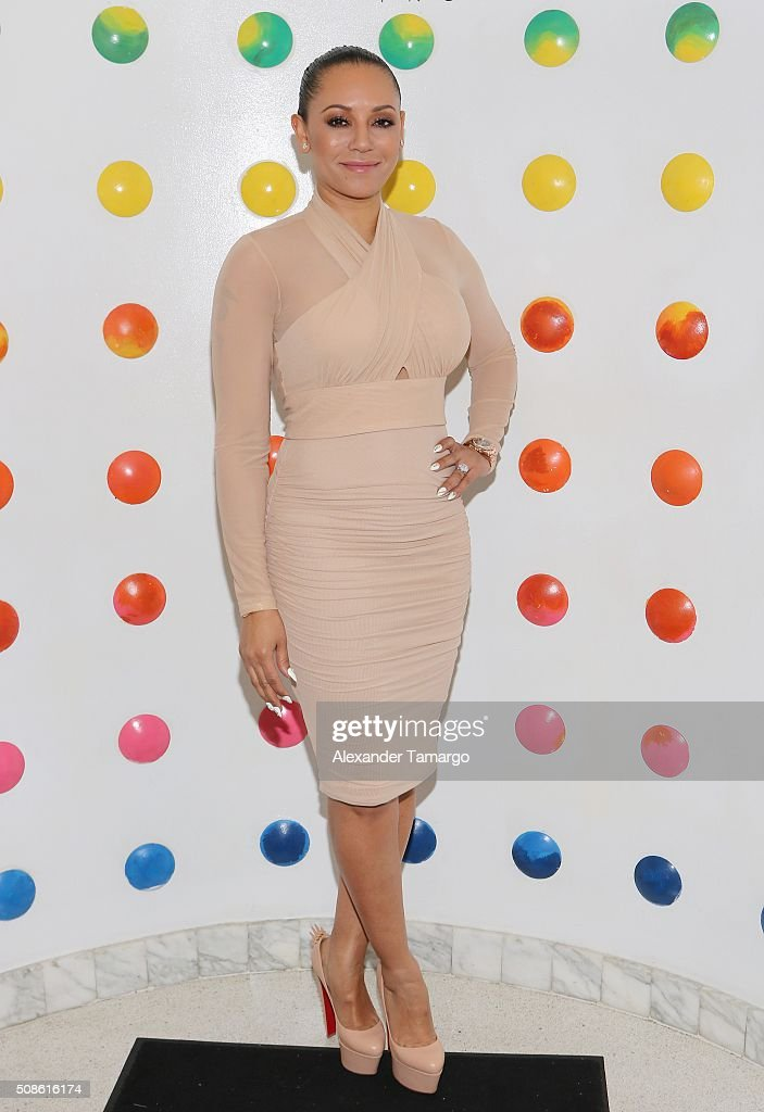 Mel B is seen at Sugar Factory American Brasserie during a meet and greet with her fans on February 5, 2016 in Miami, Florida.