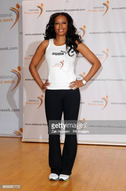 Mel B launches National Fitness Week at Fitness First on Tottenham Court Road central London