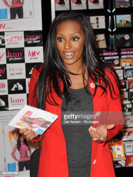 Mel B meets fans and signs copies of her new fitness DVD at HMV in Westfield shopping centre west London