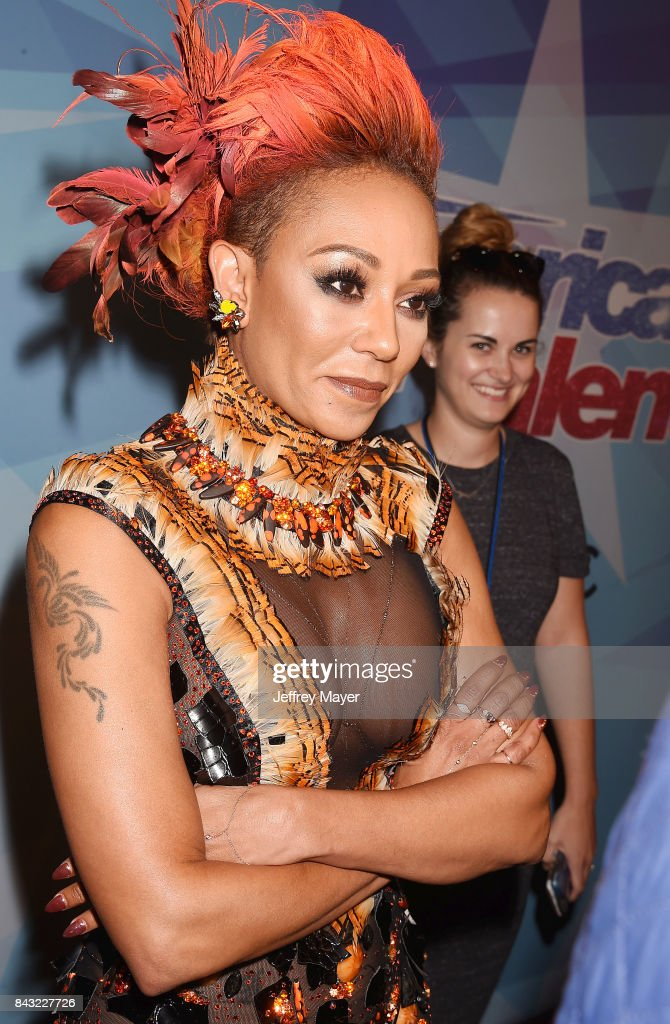 Mel B, Melanie Brown arrives at the NBC's 'America's Got Talent' Season 12 Live Show at the Dolby Theatre on September 5, 2017 in Hollywood, California.