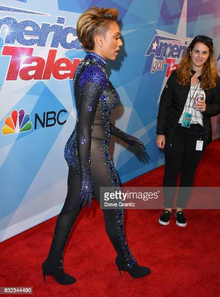 Mel B Melanie Brown arrives at the Premiere Of NBC's 'America's Got Talent' Season 12 at Dolby Theatre on August 15 2017 in Hollywood California