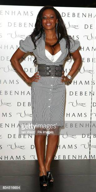 Mel B the new face and body of Ultimo lingerie during a photocall at Debenhams on Oxford Street in London