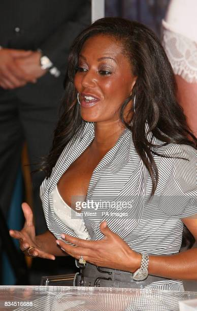 Mel B the new face and body of Ultimo lingerie meets the public at Debenhams on Oxford Street in London