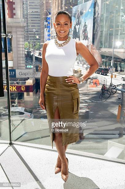 Mel B visits 'Extra' at their New York studios at HM in Times Square on September 10 2014 in New York City