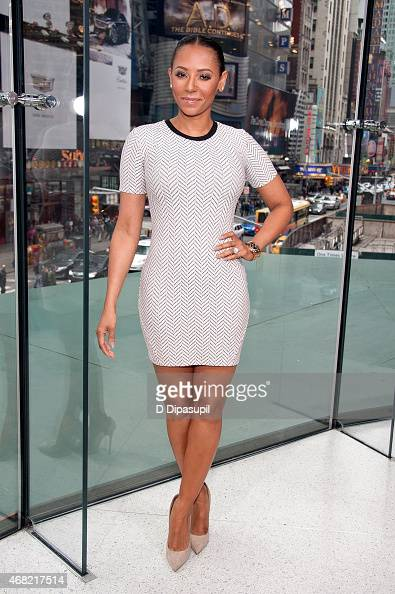 Mel B visits 'Extra' at their New York studios at HM in Times Square on March 31 2015 in New York City