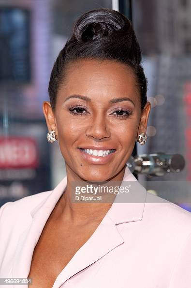 Mel B visits 'Extra' at their New York studios at HM in Times Square on November 11 2015 in New York City