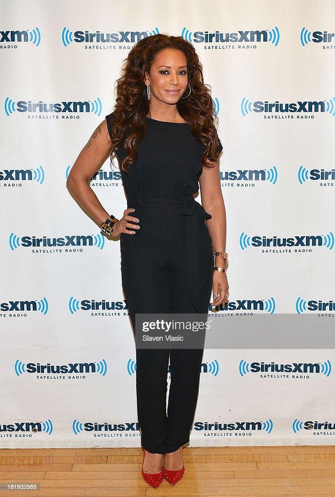 Mel B visits SiriusXM Studios on September 26, 2013 in New York City.