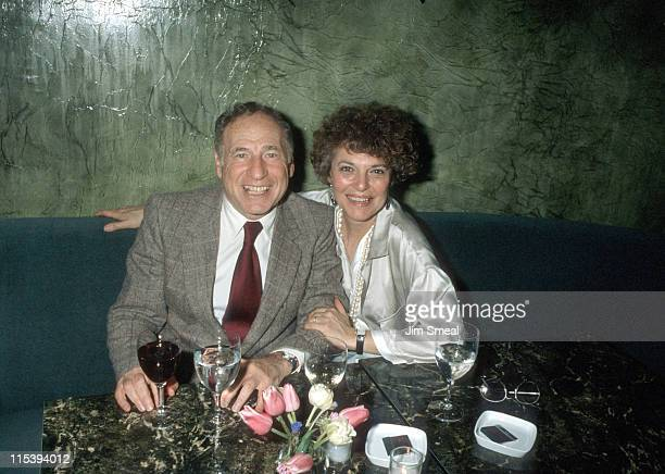 Mel Brooks and Anne Bancroft during Wrap Party at Maxim's Restaurant May 16 1986 at Maxim's Restaurant in New York City New York United States
