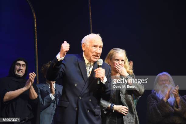 Mel Brooks and Susan Stroman attend the press night performance of 'Mel Brooks' Young Frankenstein' at The Garrick Theatre on October 10 2017 in...
