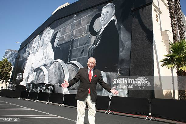 Mel Brooks at the Mel Brooks street and mural dedication at Fox Studios in Los Angeles California on October 23 2014