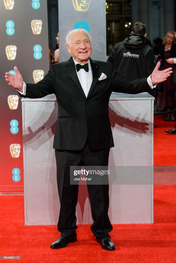 Mel Brooks attends the 70th EE British Academy Film Awards (BAFTA) at Royal Albert Hall on February 12, 2017 in London, England.