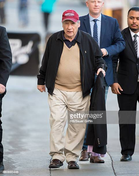 Mel Brooks is seen at 'Jimmy Kimmel Live' on December 18 2014 in Los Angeles California
