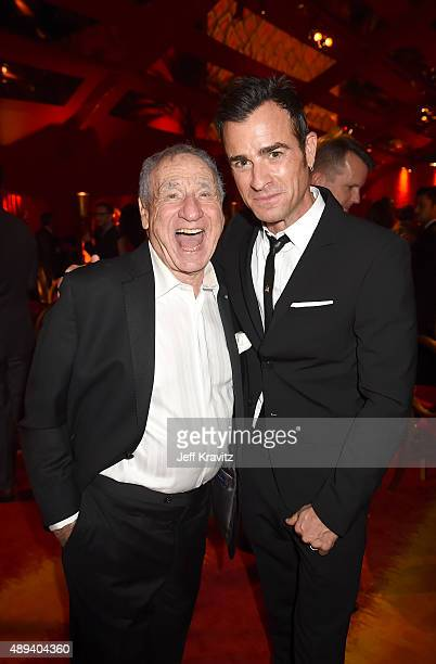 Mel Brooks Justin Theroux attends HBO's Official 2015 Emmy After Party at The Plaza at the Pacific Design Center on September 20 2015 in Los Angeles...