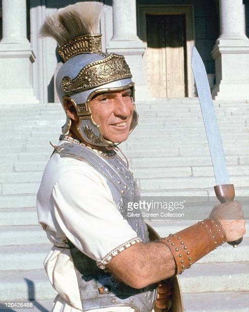 Mel Brooks US factor film director and comedian brandishing a sword and dressed in a style of a Roman centurion in a publicity portrait issued for...