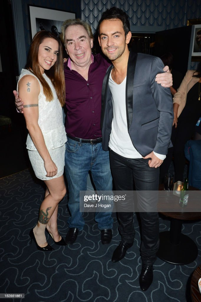 L-R Mel C, <a gi-track='captionPersonalityLinkClicked' href=/galleries/search?phrase=Andrew+Lloyd+Webber&family=editorial&specificpeople=157705 ng-click='$event.stopPropagation()'>Andrew Lloyd Webber</a> and Ben Forster attend the afterparty for the press night of Jesus Christ Superstar, the arena tour at The O2 Arena on September 21, 2012 in London, England.