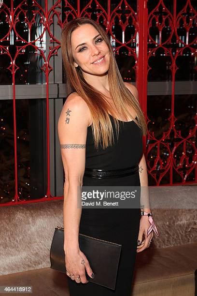 Mel C attends the Sony after party for the BRIT Awards 2015 at Sushi Samba on February 25 2015 in London England
