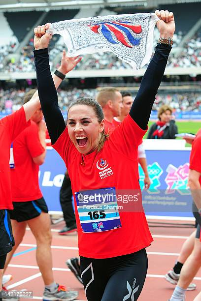 Mel C finishesThe National Lottery Olympic Park Run at Olympic Park on March 31 2012 in London England