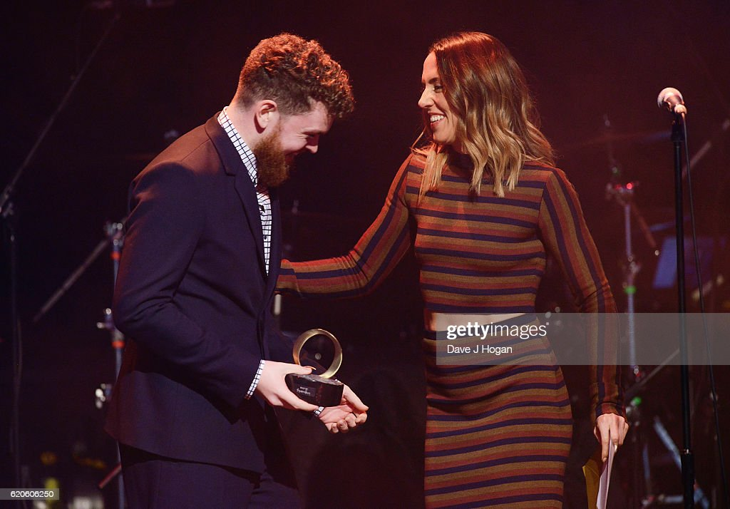 Mel C presents Jack Garratt with the Breakthrough Award during The Stubhub Q Awards 2016 at The Roundhouse on November 2, 2016 in London, England.