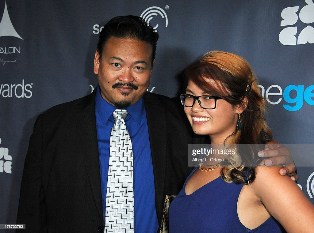 Mel Caylo and Christine Dinh attend The 1st Annual Geekie Awards held at Avalon on August 18, 2013 in Hollywood, California.