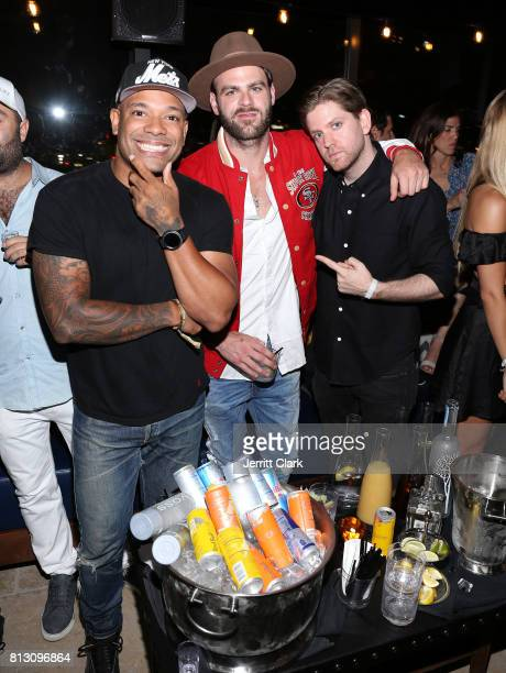 Mel Debarge Alex Pall of The Chainsmokers and Jonathan Schwartz of Tao Group attend The Grand Opening Of The Highlight Room at DREAM Hollywood on...