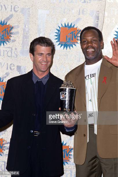 Mel Gibson and Danny Glover during MTV Movie Awards September 7 1993 in Los Angeles California United States