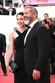 Mel Gibson and his girlfriend Rossalind Ross attend the closing ceremony of the 69th annual Cannes Film Festival at the Palais des Festivals on May...
