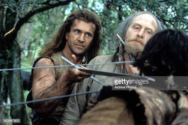 Mel Gibson and James Cosmo in a scene from the film 'Braveheart' 1995