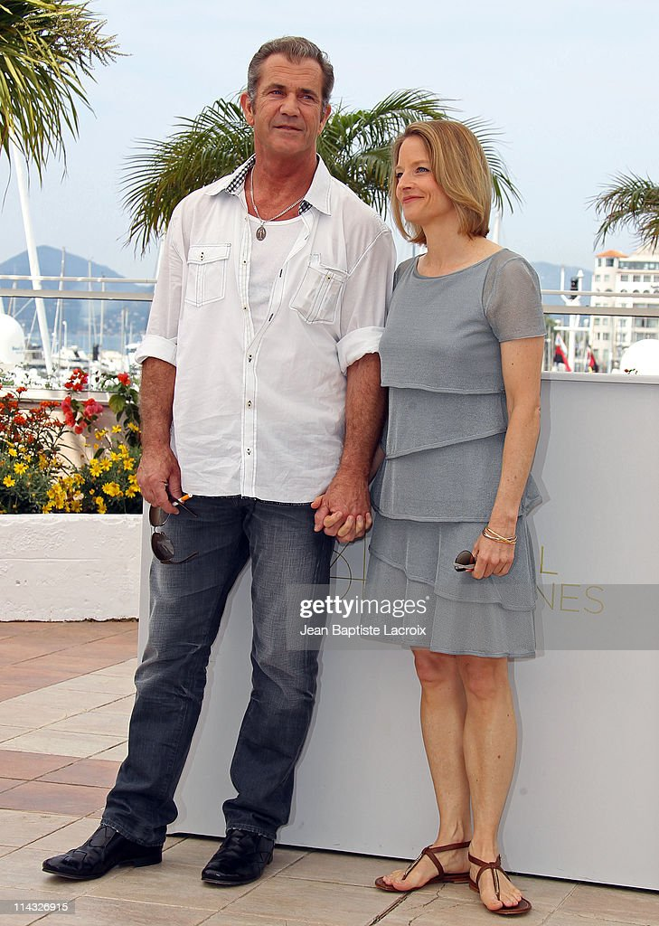 Mel Gibson and <a gi-track='captionPersonalityLinkClicked' href=/galleries/search?phrase=Jodie+Foster&family=editorial&specificpeople=204488 ng-click='$event.stopPropagation()'>Jodie Foster</a> attend 'The Beaver' Photocall during the 64th Cannes Film Festival at Palais des Festivals on May 18, 2011 in Cannes, France.