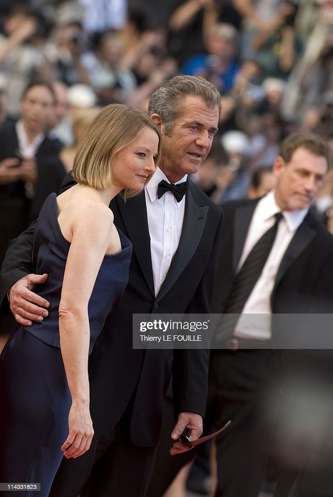 Mel Gibson and Jodie Foster attend 'The Beaver' premiere at the Palais des Festivals during the 64th Cannes Film Festival on May 17, 2011 in Cannes, France.