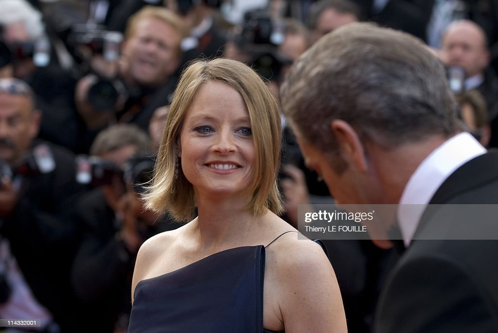 Mel Gibson and <a gi-track='captionPersonalityLinkClicked' href=/galleries/search?phrase=Jodie+Foster&family=editorial&specificpeople=204488 ng-click='$event.stopPropagation()'>Jodie Foster</a> attend 'The Beaver' premiere at the Palais des Festivals during the 64th Cannes Film Festival on May 17, 2011 in Cannes, France.