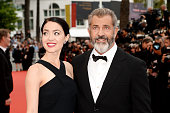 Mel Gibson and Rossalind Ross attend the closing ceremony of the 69th annual Cannes Film Festival at the Palais des Festivals on May 22 2016 in...