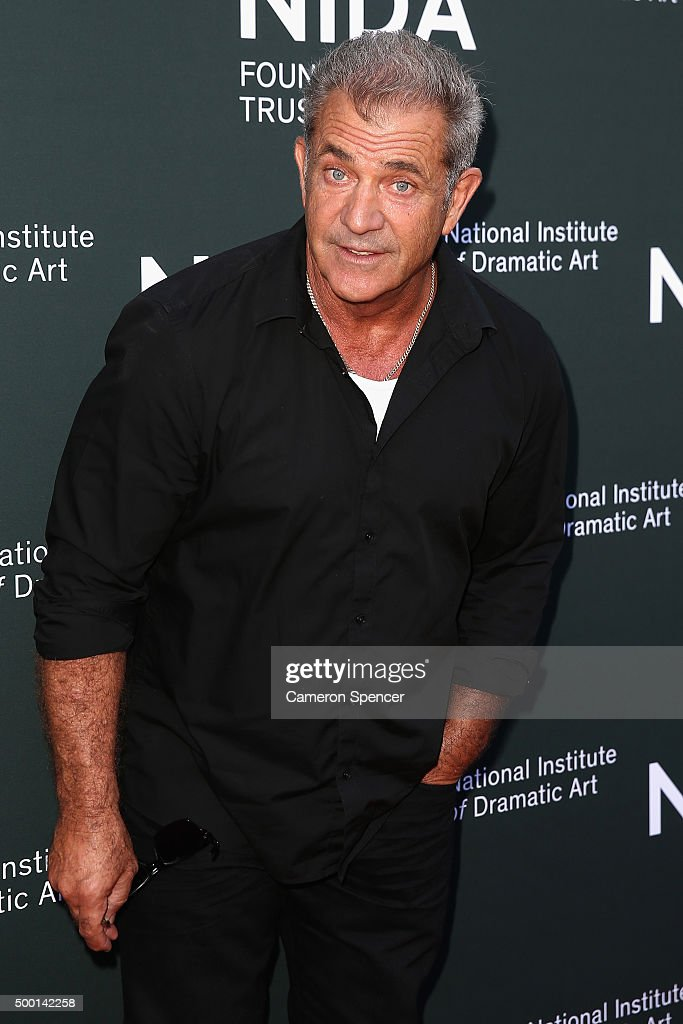 <a gi-track='captionPersonalityLinkClicked' href=/galleries/search?phrase=Mel+Gibson&family=editorial&specificpeople=201512 ng-click='$event.stopPropagation()'>Mel Gibson</a> arrives ahead of The National Institute of Dramatic Art's new graduate school launch at NIDA on December 6, 2015 in Sydney, Australia.