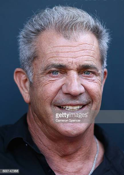 Mel Gibson arrives ahead of The National Institute of Dramatic Art's new graduate school launch at NIDA on December 6 2015 in Sydney Australia