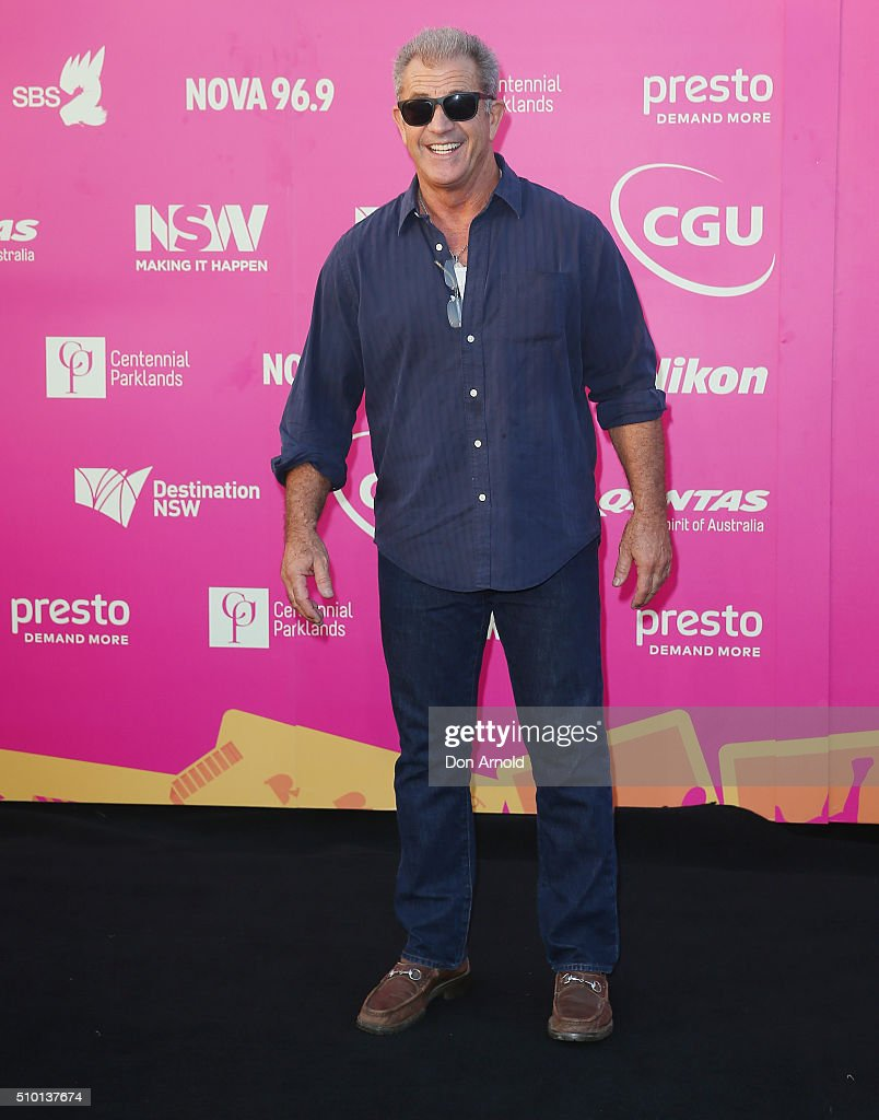 <a gi-track='captionPersonalityLinkClicked' href=/galleries/search?phrase=Mel+Gibson&family=editorial&specificpeople=201512 ng-click='$event.stopPropagation()'>Mel Gibson</a> arrives ahead of Tropfest 2016 at Centennial Park on February 14, 2016 in Sydney, Australia.