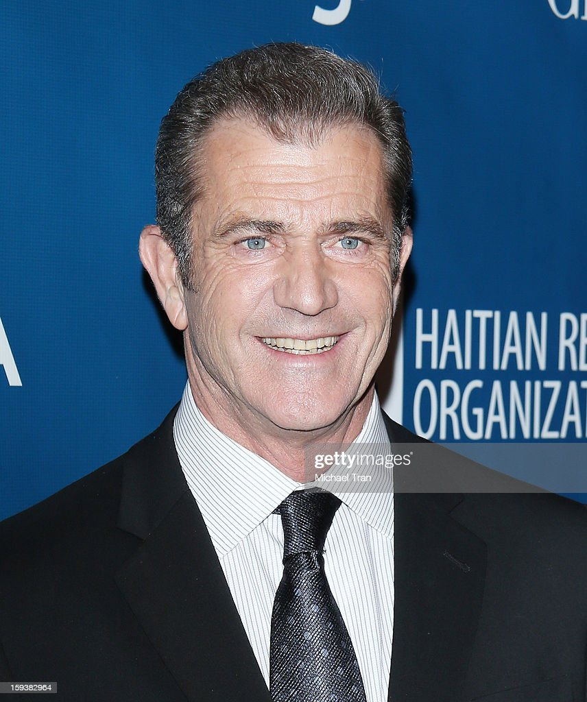 <a gi-track='captionPersonalityLinkClicked' href=/galleries/search?phrase=Mel+Gibson&family=editorial&specificpeople=201512 ng-click='$event.stopPropagation()'>Mel Gibson</a> arrives at the 2nd Annual Sean Penn & Friends 'Help Haiti Home' held at Montage Hotel on January 12, 2013 in Los Angeles, California.