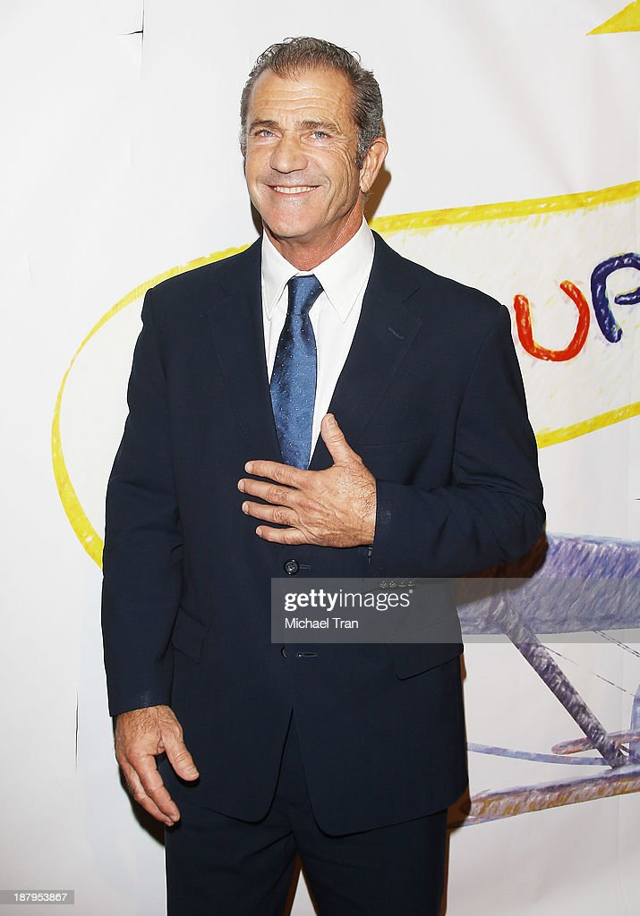 <a gi-track='captionPersonalityLinkClicked' href=/galleries/search?phrase=Mel+Gibson&family=editorial&specificpeople=201512 ng-click='$event.stopPropagation()'>Mel Gibson</a> arrives at the 'Stand Up For Gus' benefit event held at Bootsy Bellows on November 13, 2013 in West Hollywood, California.