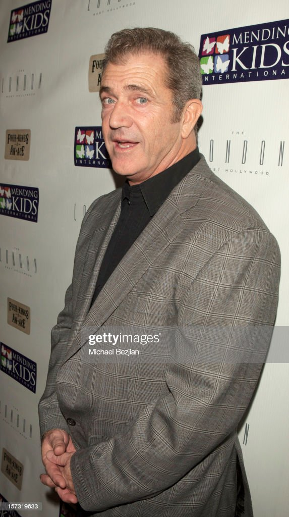 <a gi-track='captionPersonalityLinkClicked' href=/galleries/search?phrase=Mel+Gibson&family=editorial&specificpeople=201512 ng-click='$event.stopPropagation()'>Mel Gibson</a> attends Mending Kids International Celebrity Poker Tournament - Red Carpet at The London Hotel on December 1, 2012 in West Hollywood, California.