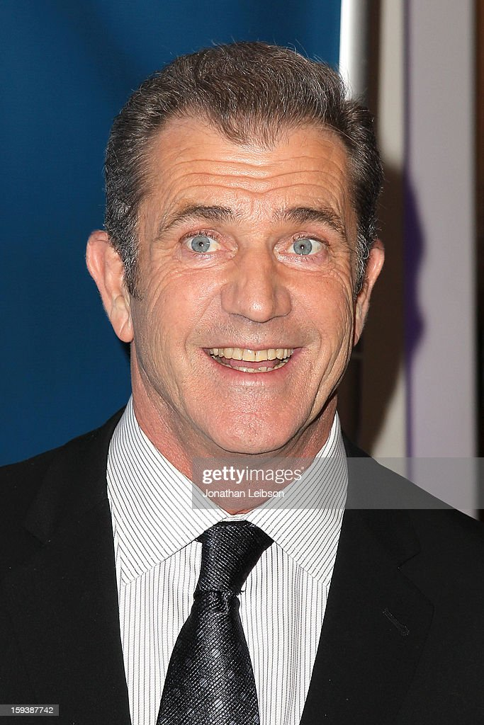 Mel Gibson attends the 2nd Annual Sean Penn & Friends Help Haiti Home Presented By Giorgio Armani - A Gala To Benefit J/P HRO - Arrivals at Montage Beverly Hills on January 12, 2013 in Beverly Hills, California.