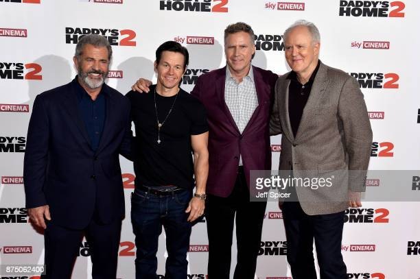 Mel Gibson Mark Wahlberg Will Ferrell and John Lithgow attend the UK Premiere of 'Daddy's Home 2' at Vue West End on November 16 2017 in London...
